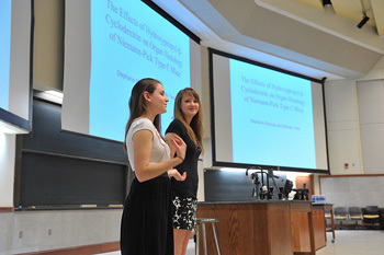 Stephanie Maciuba and Michelle Yanik present at COS JAM