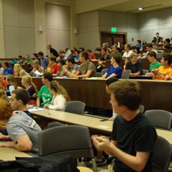 A full house for the Math for Everyone Lecture in Sept 2013