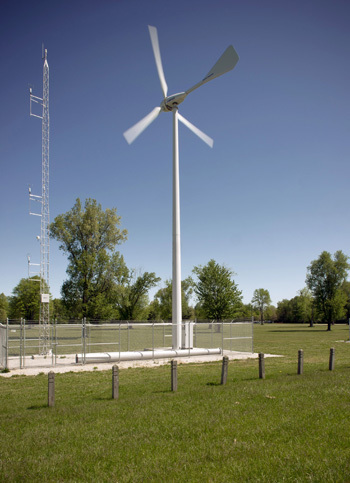 White Field wind turbine