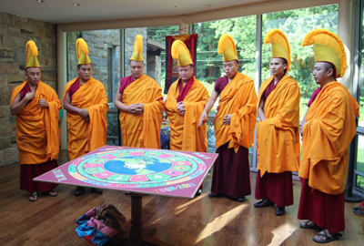 The Tibetan Buddhist monks