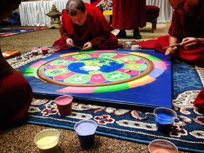 Creation of a sand mandala