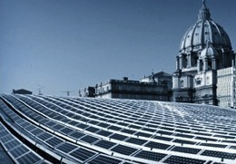 Solar panels at the Vatican