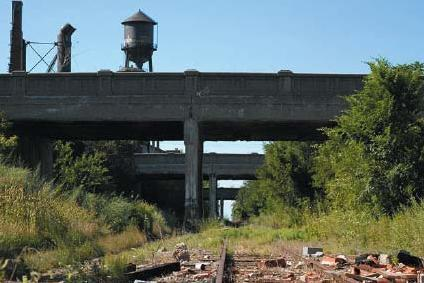 Abandoned portion of Grand Trunk Railroad in Detroit, Michigan