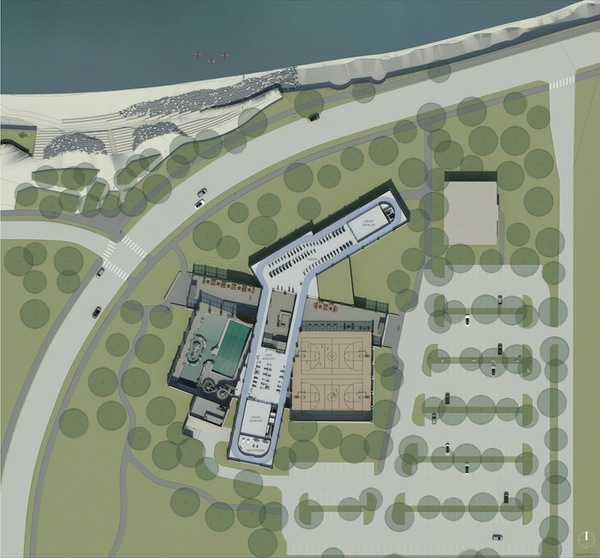 Level 2 plan of net-zero community center