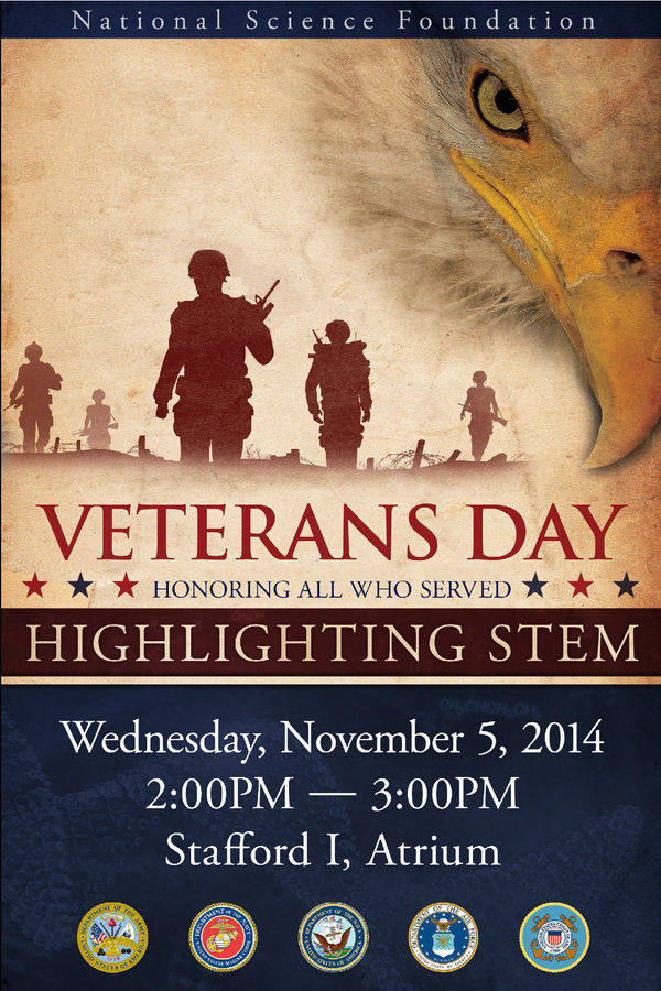 NSF Veterans Day poster