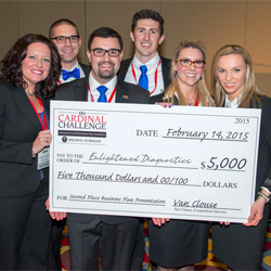Enlightened Diagnosis win 2nd place in the 2015 Cardinal Challenge
