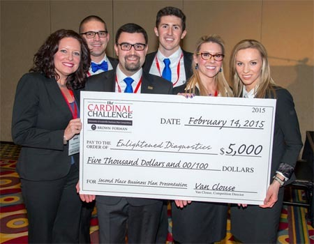 Enlightened Diagnosis wins 2nd place in the 2015 Cardinal Challenge
