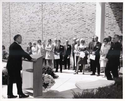 Lucier Courtyard Dedication, August 1971