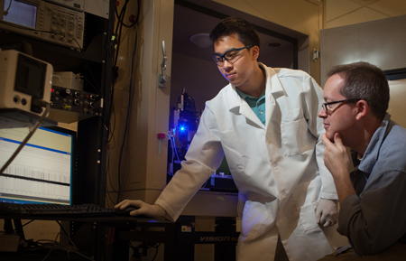 Michael Dinh performs research at Cold Spring Harbor Laboratory