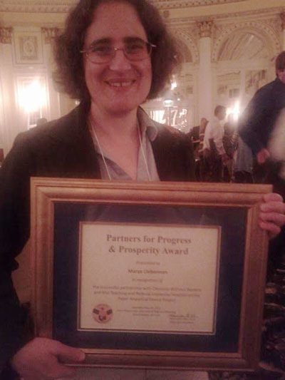 Marya Lieberman wins P3 Award