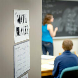 Math Bunker With Chalkboard And Students 250