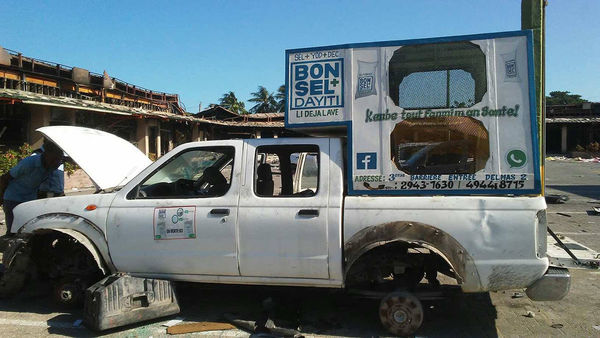 Damaged Bon Sel Dayiti Salt truck
