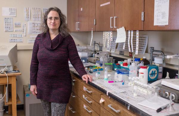 Marya Lieberman in a lab