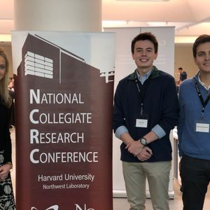 Glynn Scholars present at the 2020 National Collegiate Research Conference at Harvard University