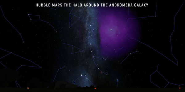 Hubble Maps the Halo Around the Andromeda Galaxy