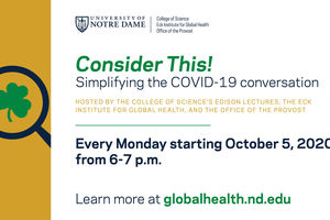 Notre Dame launches a weekly webinar series discussing COVID-19