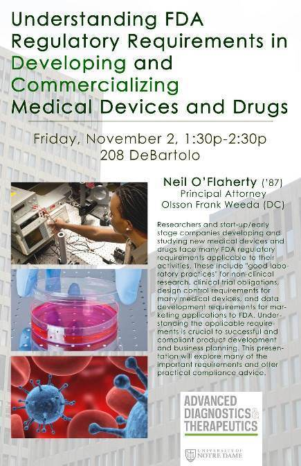 AD&T Presentation: Understanding FDA Regulatory Requirements Involved in Developing and Commercializing Medical Devices and Drugs - November 2, 2012