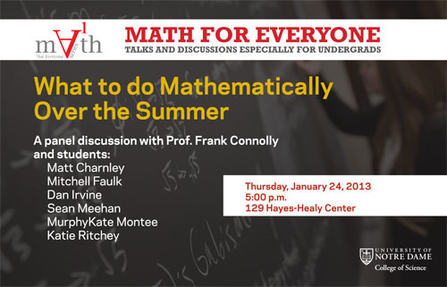 Math for Everyone: What do do Mathematically Over the Summer