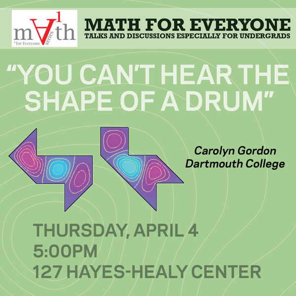 Math for Everyone: You can't hear the shape of a drum
